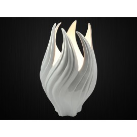 FLAMME LAMPE BLANCHE 50CM