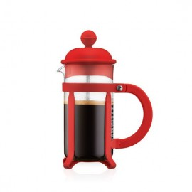 CAFETIERE A PISTON ROUGE JAVA 3T 0.35L