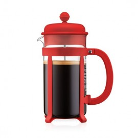 CAFETIERE A PISTON ROUGE JAVA 8T 1L