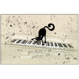 SET DE TABLE BUG ART CHAT PIANO