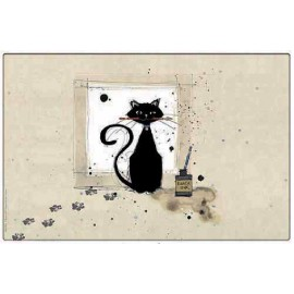 SET DE TABLE BUG ART CHAT PINCEAU