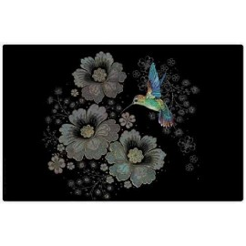 SET DE TABLE BUG ART JEWELS COLIBRI FLEURS