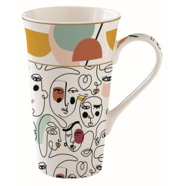 COFFRET 1 MUG 60CL EN PORCELAINE MODERNISM