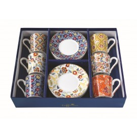 COFFRET 6 TASSES A CAFE 10CL PAISLEY ABUNDANCE