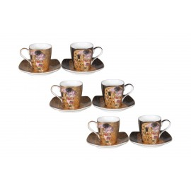 ENSEMBLE 6 TASSES A CAFÉ KLIMT